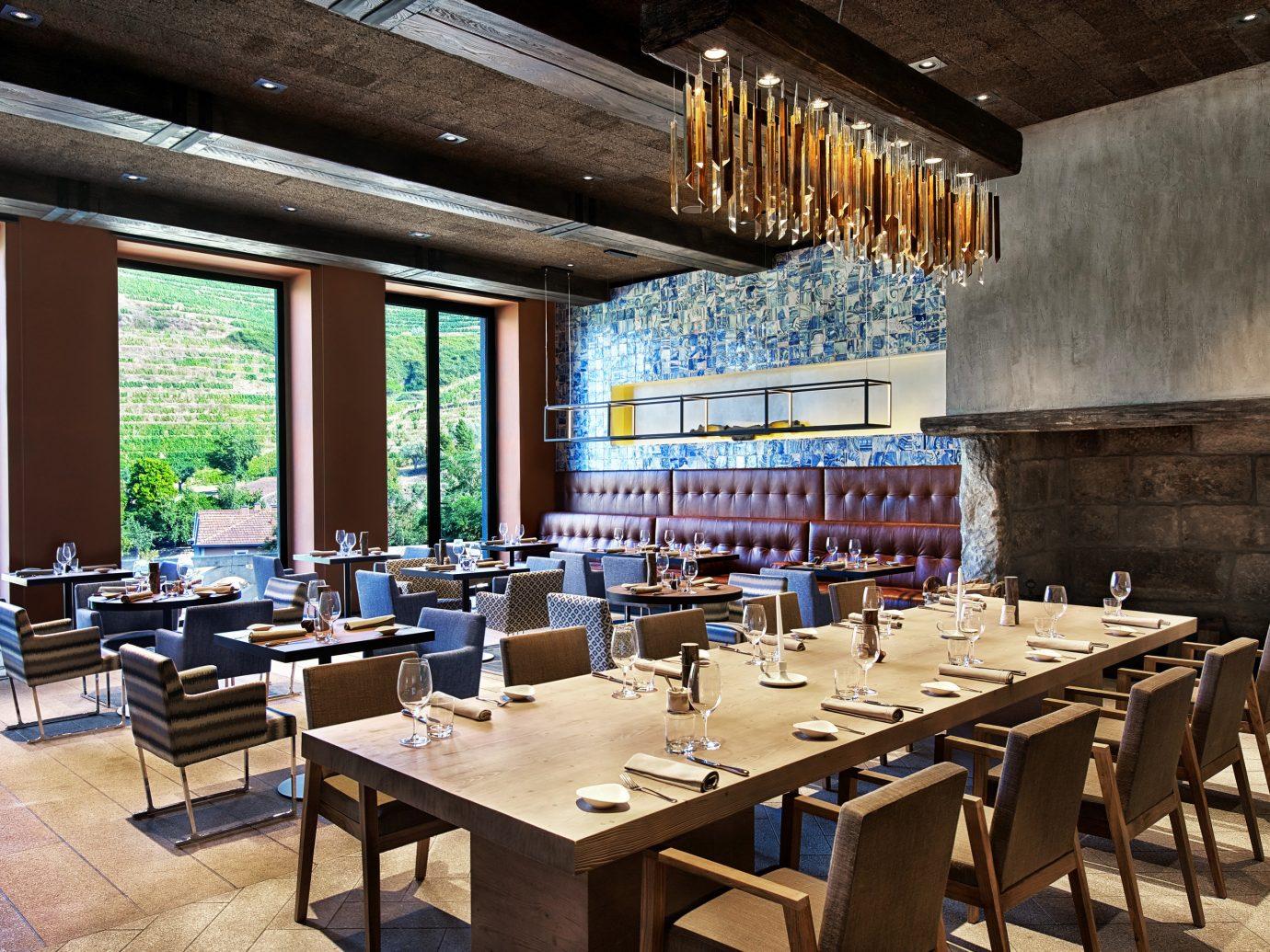 Dining Trip Ideas indoor table floor window ceiling room restaurant estate interior design Resort meal Bar furniture Island area dining room