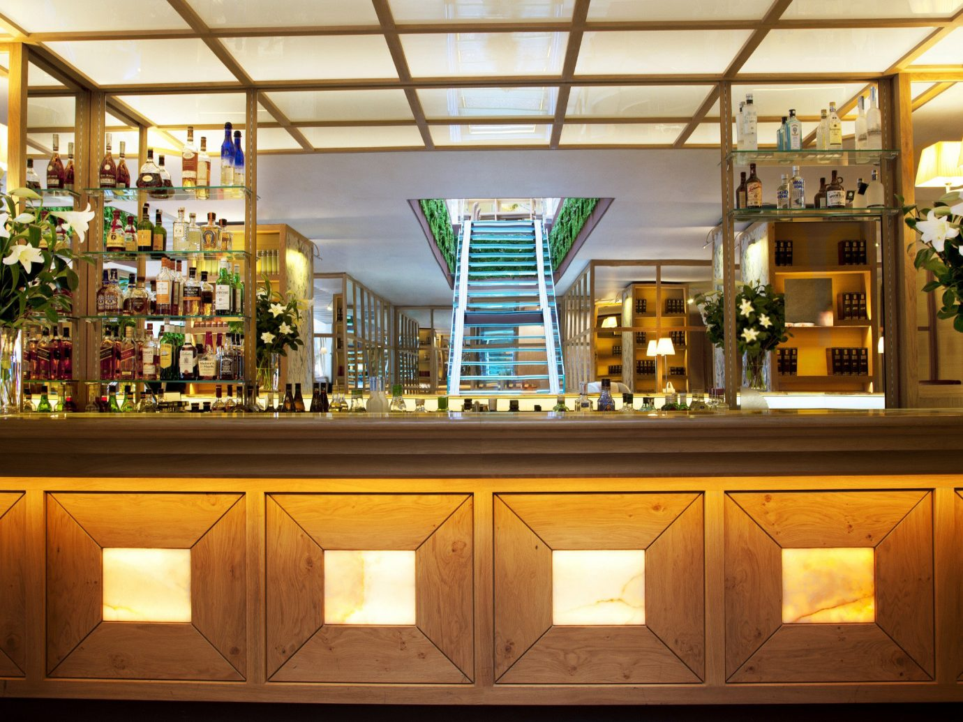 Bar Dining Eat Hip Hotels Living Lounge Luxury Madrid Modern Spain cabinet indoor ceiling retail interior design Lobby restaurant