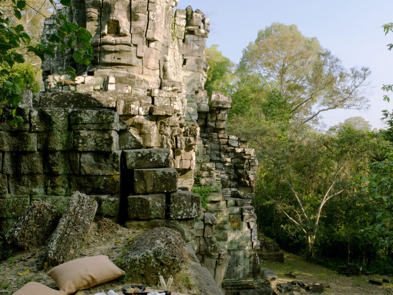 Arts + Culture Budget Landmarks Trip Ideas tree outdoor rock stone archaeological site Ruins ancient history place of worship temple Jungle terrain old