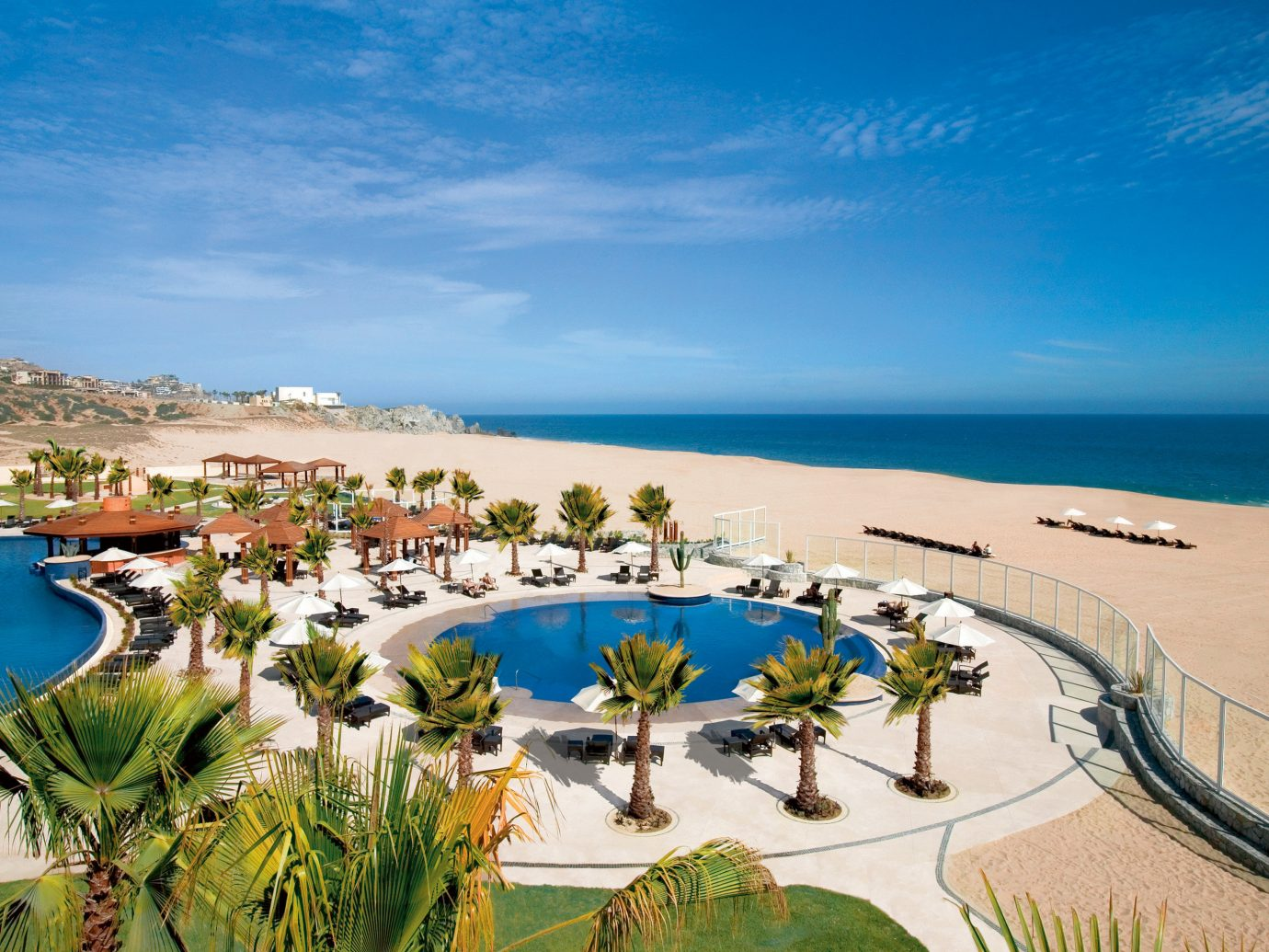 Aerial view of the pool at Pueblo Bonito Pacifica Golf & Spa Resort