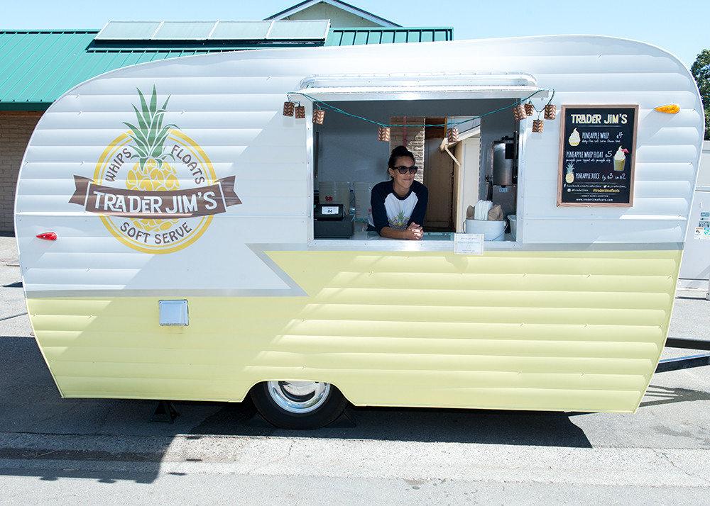 Arts + Culture food Food + Drink food truck Hip hipster ice cream juice people pineapple trailer trendy outdoor advertising vehicle art kiosk banner van