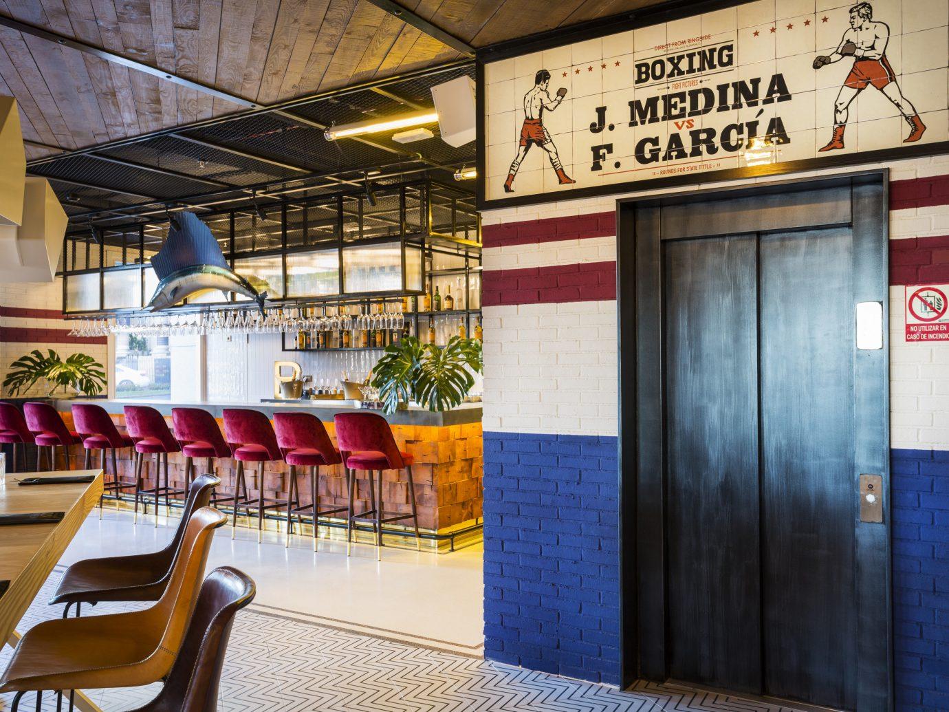 Hotels indoor restaurant interior design window covering area