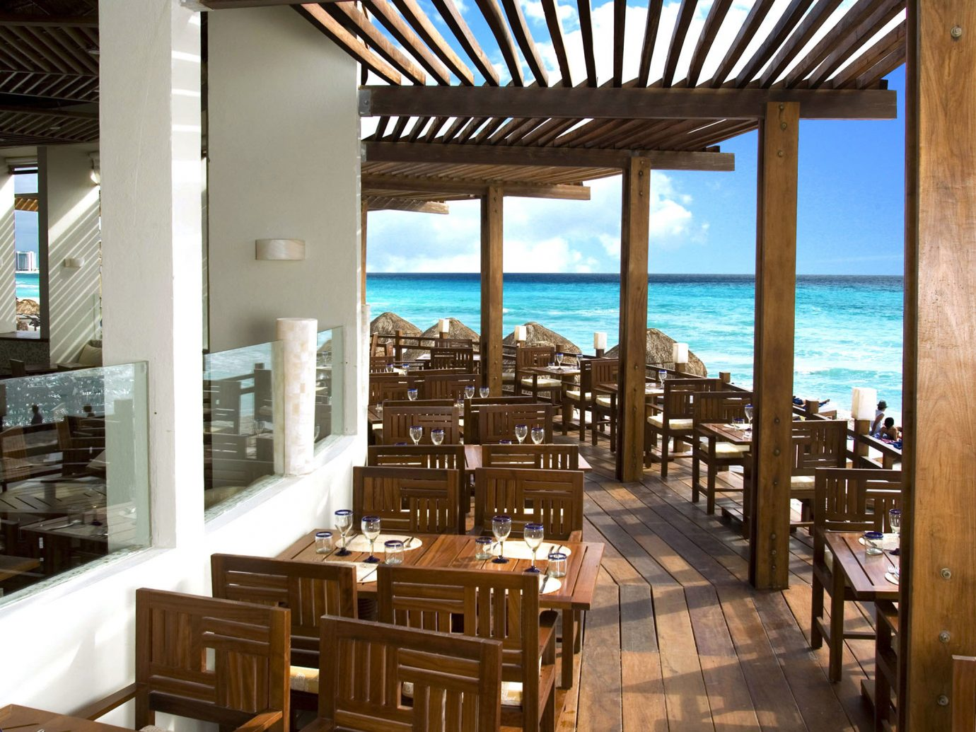 Outdoor restaurant at ME Cancun, Mexico