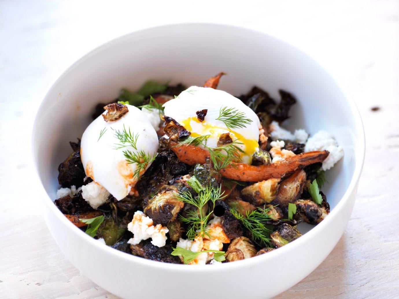 Food + Drink food plate dish bowl vegetable produce salad meal cuisine leaf vegetable coconut vegetarian food breakfast different containing