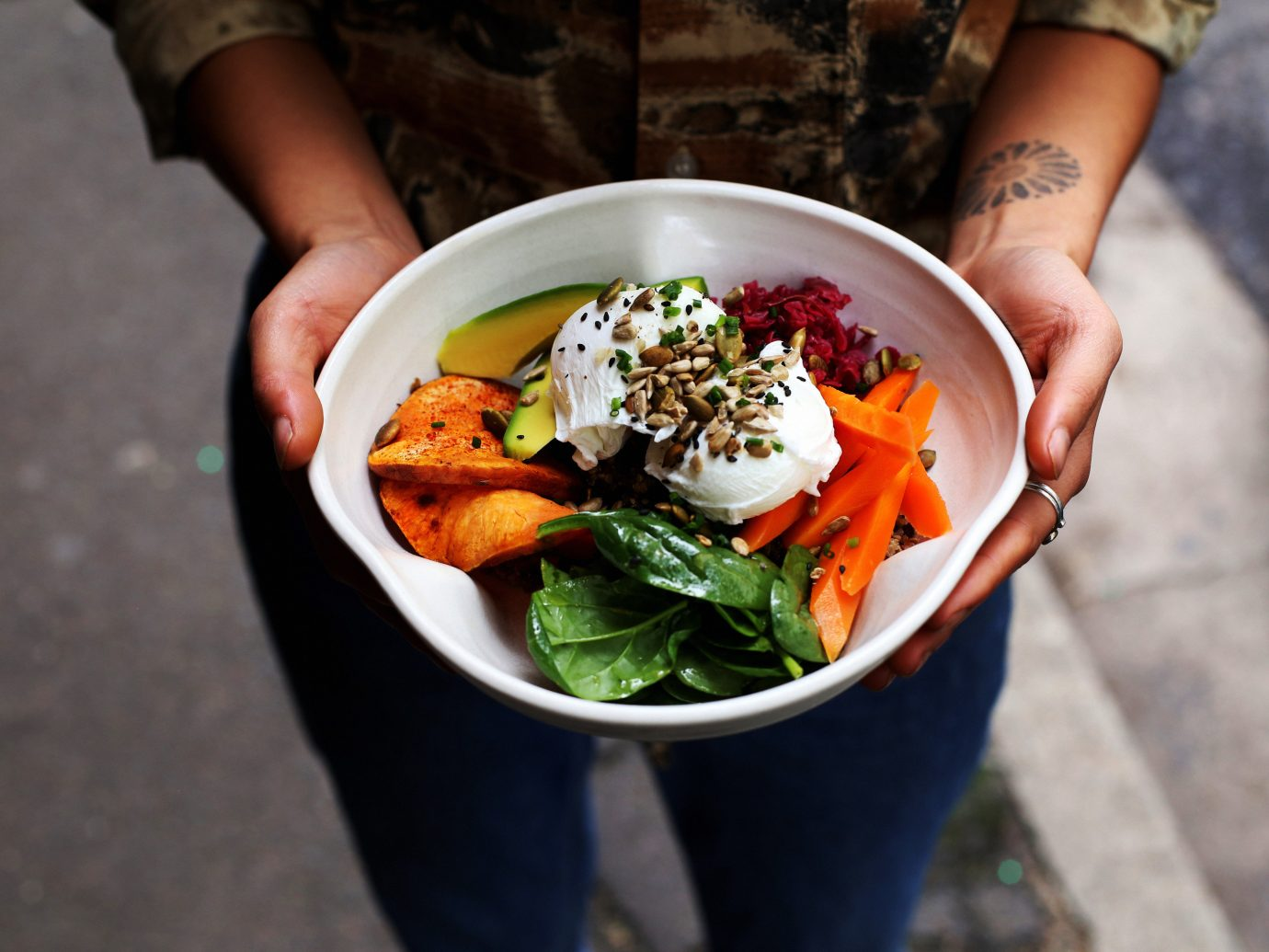 Food + Drink Offbeat Travel Trends person food dish meal brunch cuisine lunch vegetarian food vegetable breakfast recipe