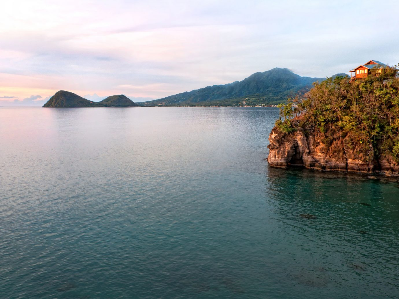 View of the ocean from Secret Bay, Dominica