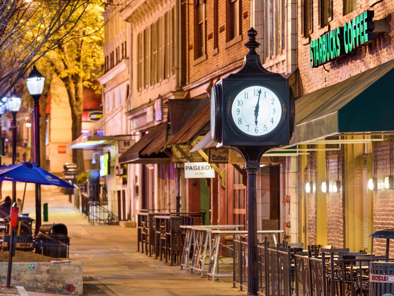 Trip Ideas landmark Town City neighbourhood street Downtown night metropolis metropolitan area evening building mixed use facade marketplace