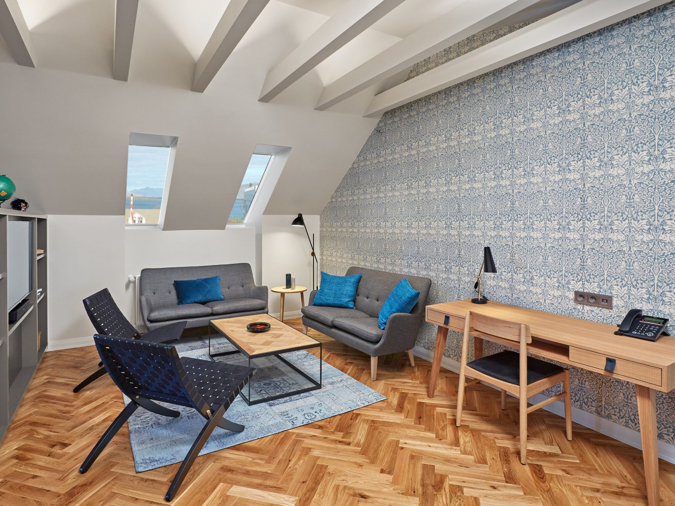 Boutique Hotels Hotels Iceland Reykjavík floor indoor wall chair room property Living building living room home interior design real estate Design estate cottage furniture