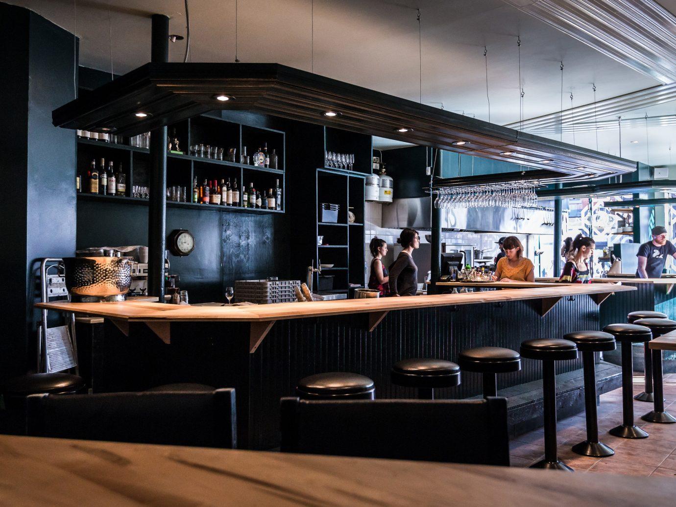 Food + Drink indoor ceiling room Bar interior design Design restaurant several