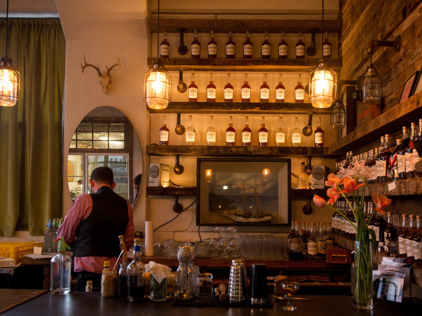 Brooklyn Food + Drink indoor person Bar restaurant tavern interior design café distilled beverage pub coffeehouse dining room