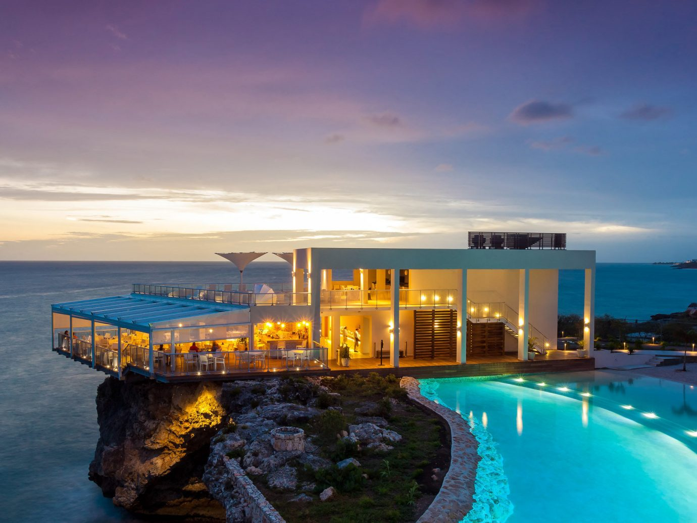 Trip Ideas water sky Sea Ocean outdoor Beach horizon vacation Coast bay dusk swimming pool caribbean evening Resort estate