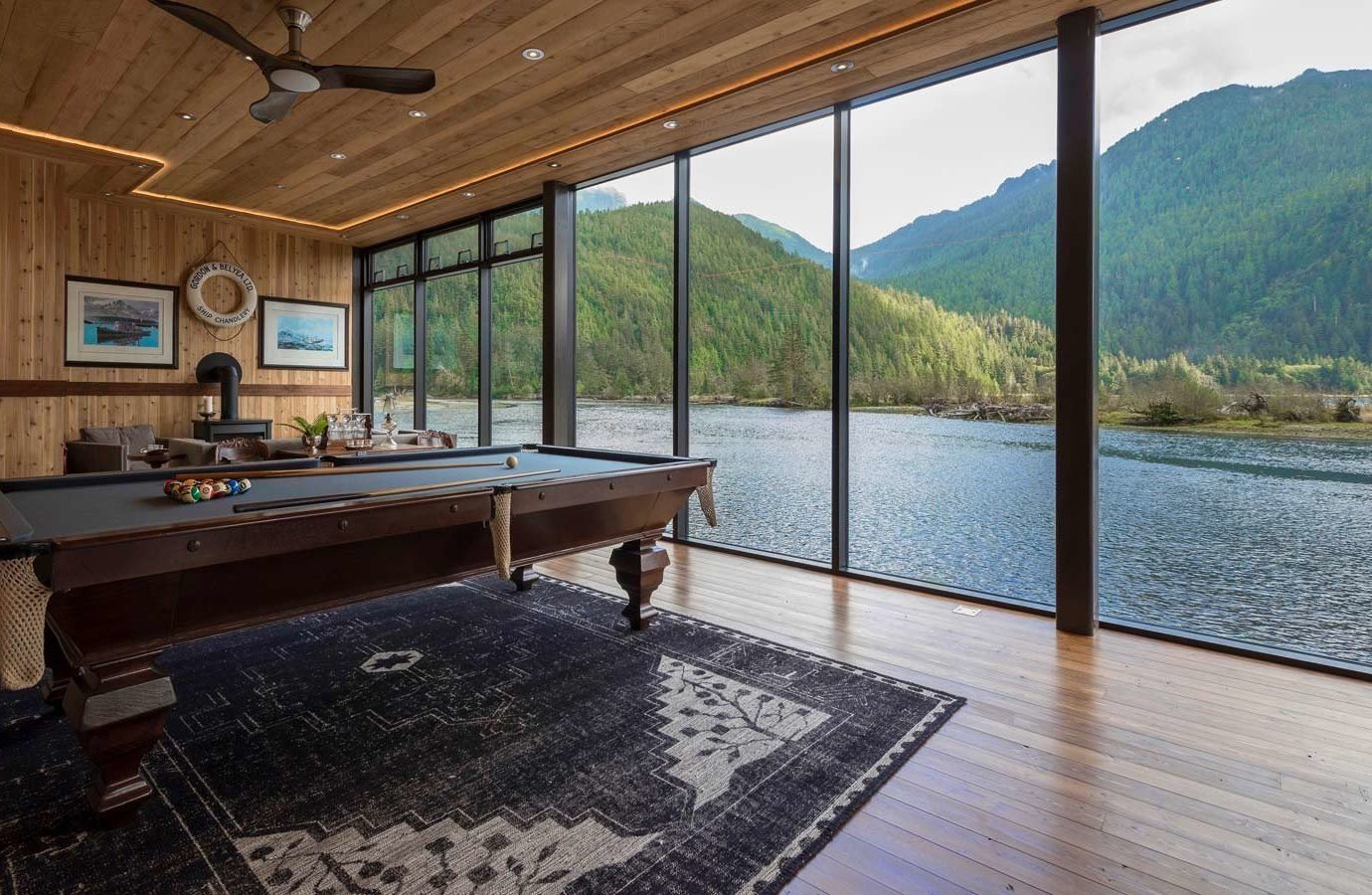 Glamping Luxury Travel Trip Ideas water floor building indoor Architecture real estate ceiling house home interior design wood window estate overlooking flooring daylighting porch Deck furniture Island