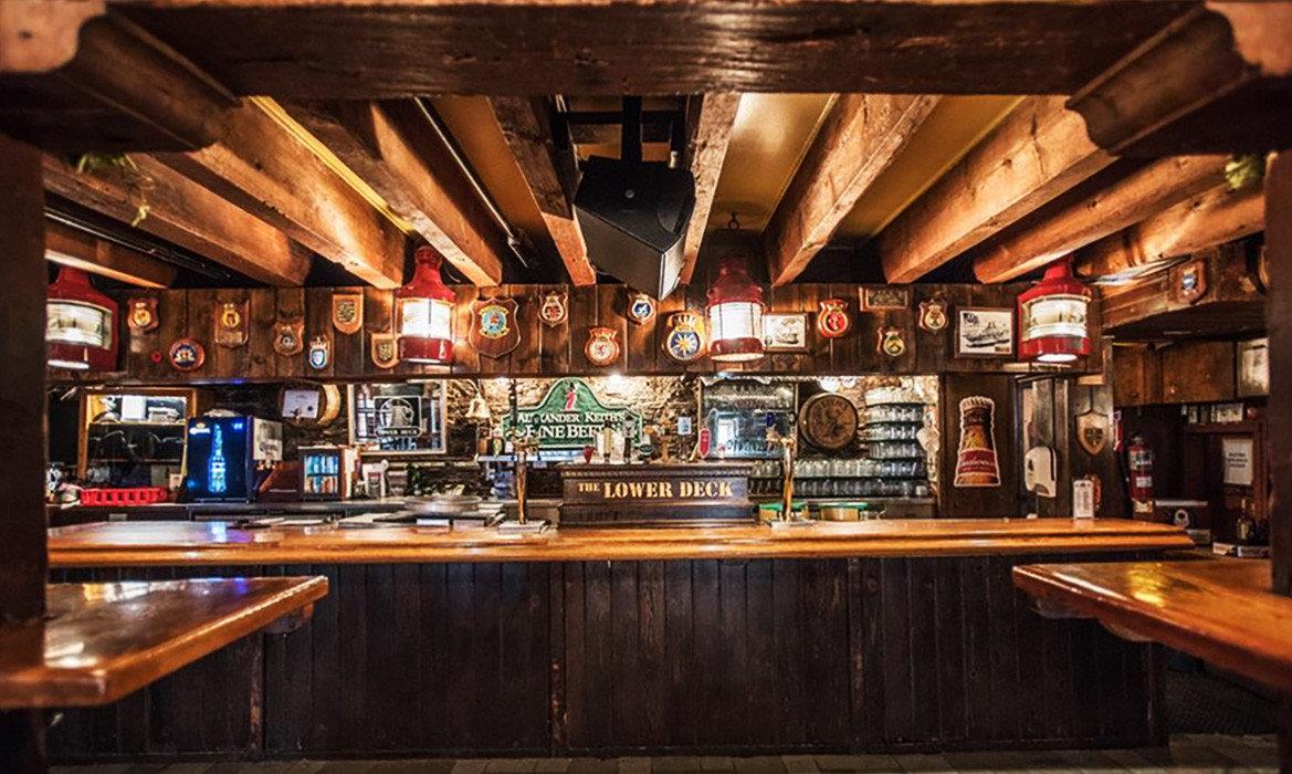 Trip Ideas indoor ceiling Kitchen Bar wooden shelf tavern counter recreation room wood cooking restaurant