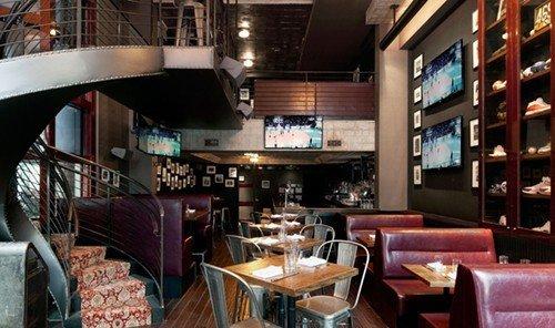 Travel Tips indoor chair room Living restaurant Bar interior design furniture area leather