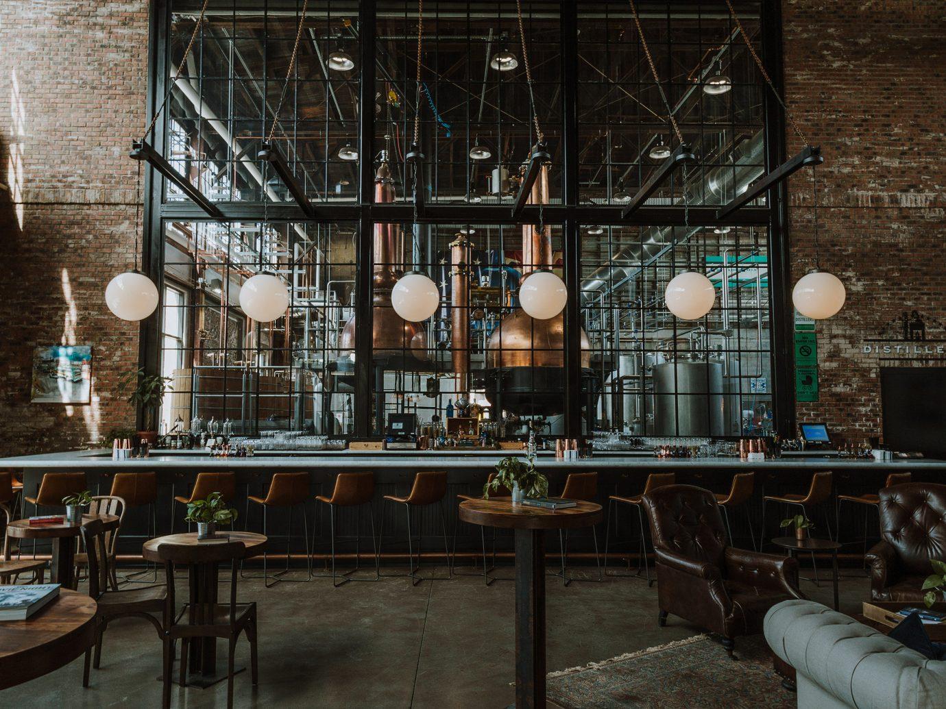 Food + Drink indoor interior design Lobby restaurant window area furniture