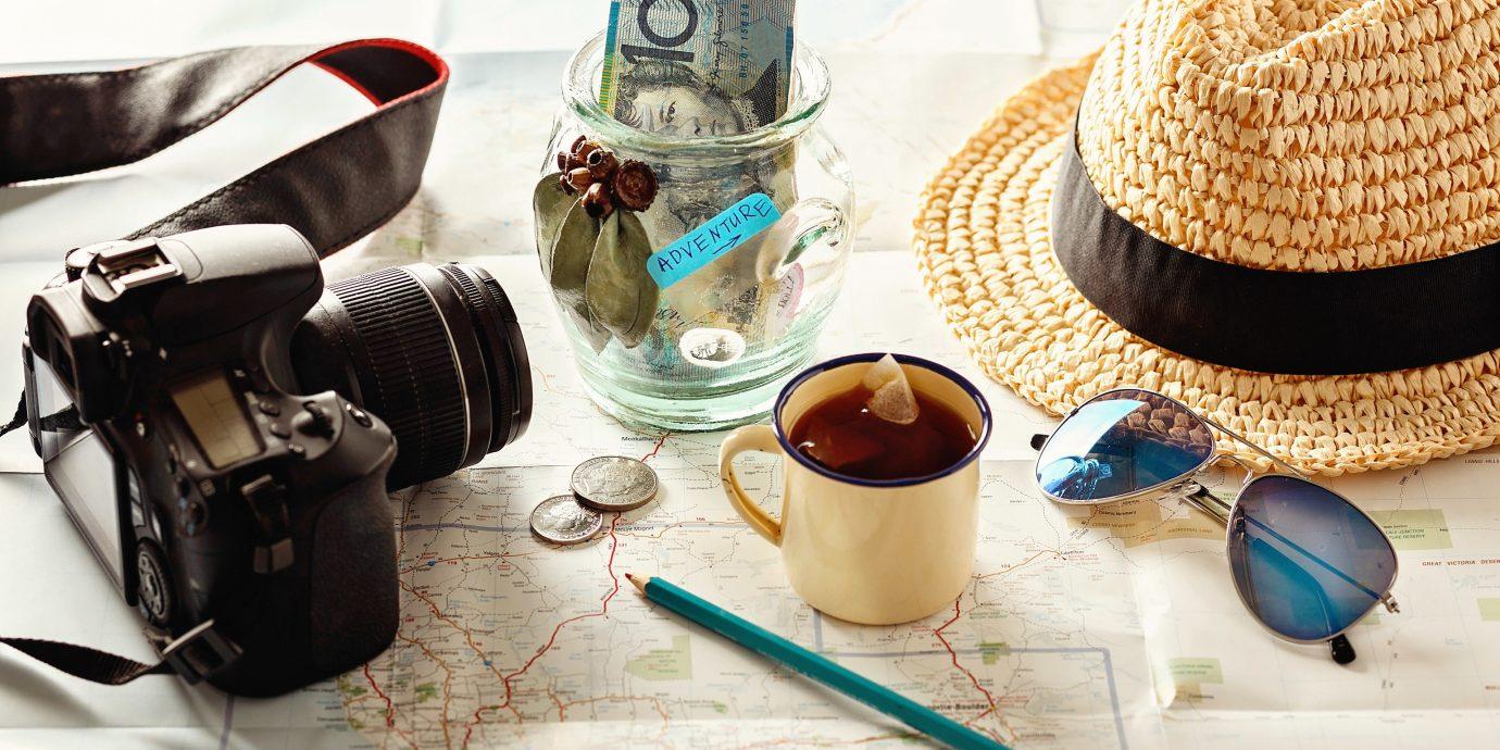 Travel Tips clothing art hat Design headgear cluttered