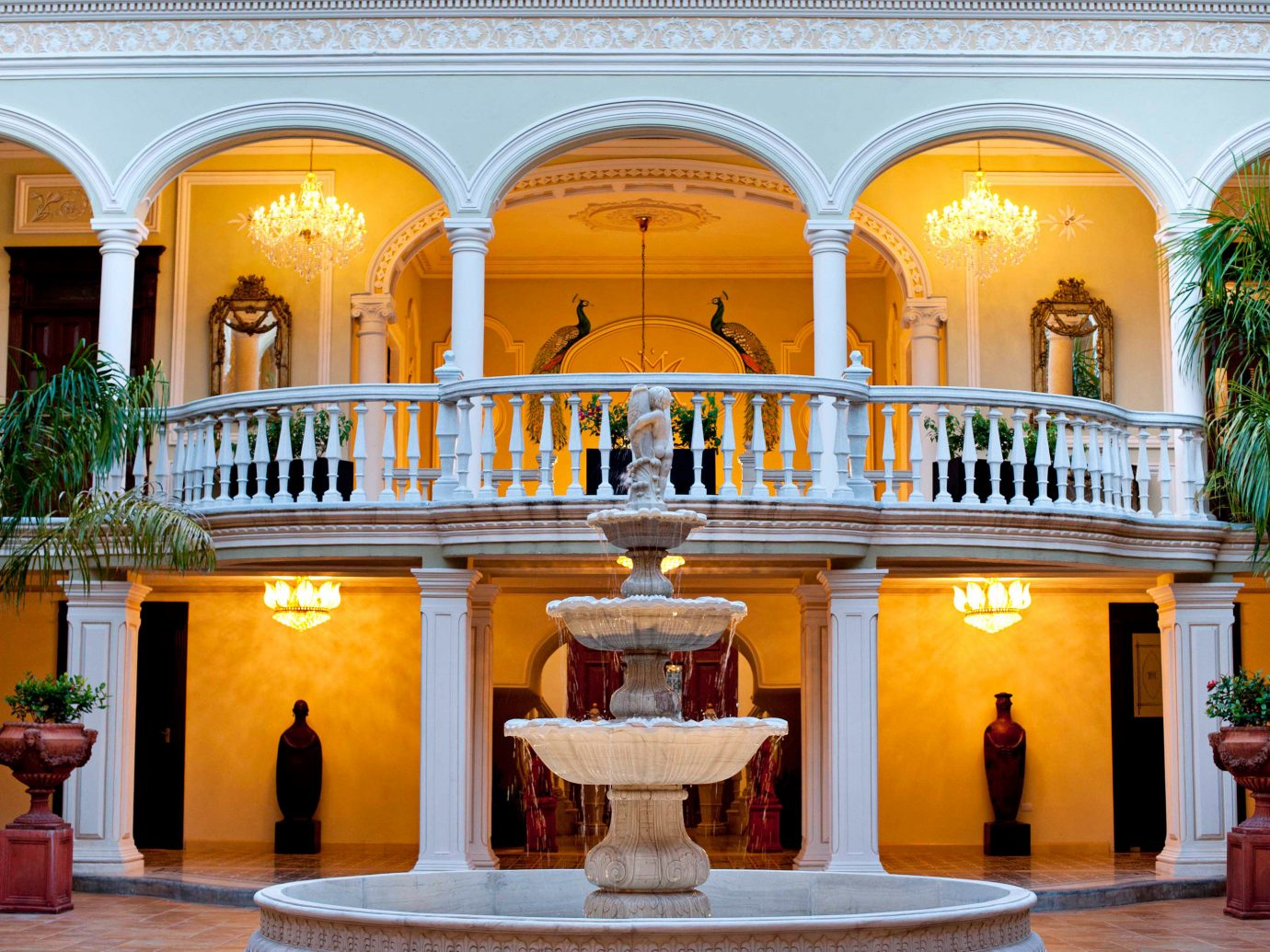 Elegant Exterior Grounds Mexico Trip Ideas Weekend Getaways building palace yellow estate Lobby mansion hacienda tourist attraction colonnade