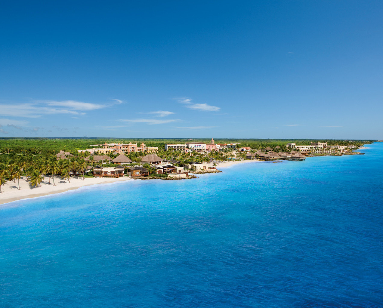 Exterior Grounds Hotels Luxury Ocean Tropical water sky outdoor Nature Sea landform Beach geographical feature reef body of water blue horizon shore Coast vacation caribbean bay Lagoon Lake cape islet Island archipelago cove tropics swimming