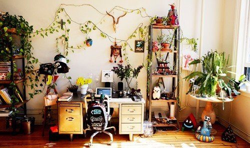 Style + Design wall indoor room home floristry living room cluttered furniture area
