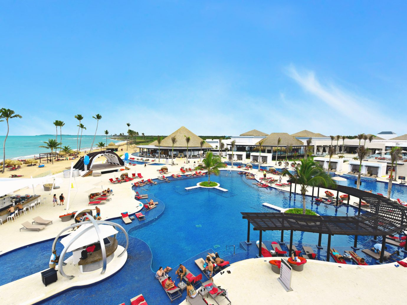 Aerial view of the pool at CHIC by Royalton Resorts