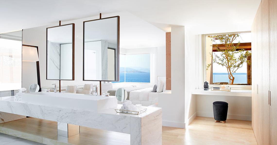 Hotels Luxury Travel floor indoor wall window interior design ceiling sink bathroom home product design interior designer furniture wood tub Modern bathtub Bath