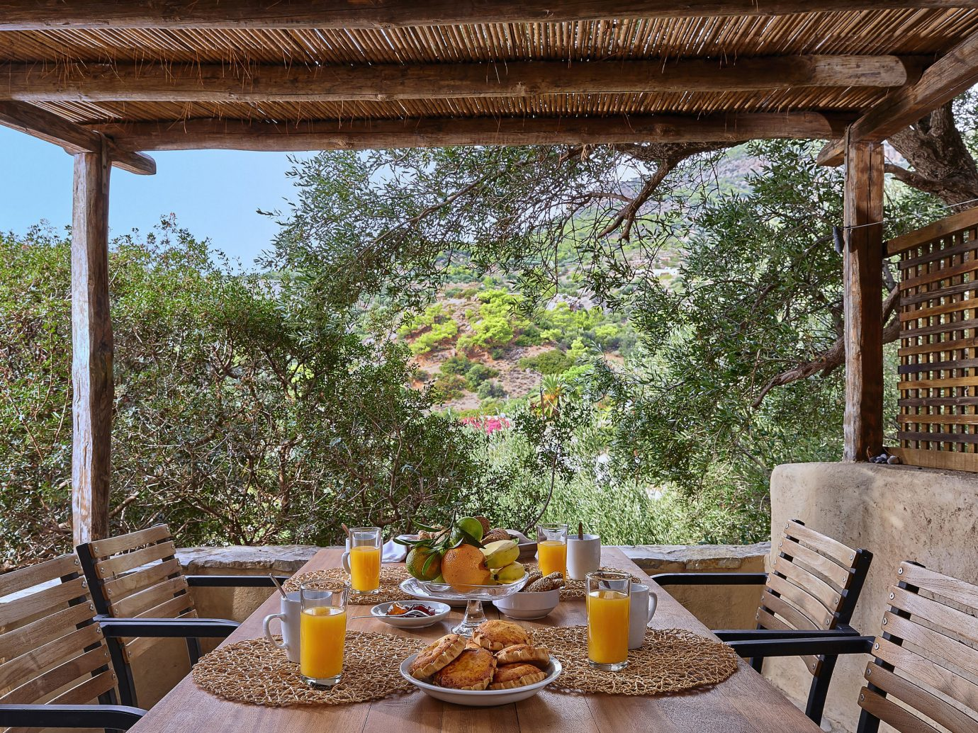 Trip Ideas tree outdoor table chair property wooden Picnic room estate porch backyard home cottage Resort Villa real estate outdoor structure Garden interior design yard farmhouse hacienda Courtyard area set meal surrounded dining table