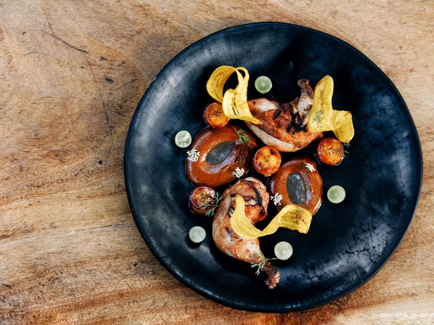 City Mexico Trip Ideas Tulum ground food plate floor black wooden vegetable recipe
