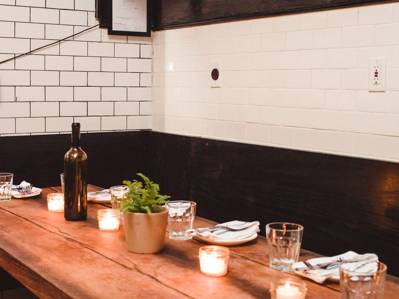 Brooklyn City Food + Drink NYC countertop table interior design Kitchen furniture flooring