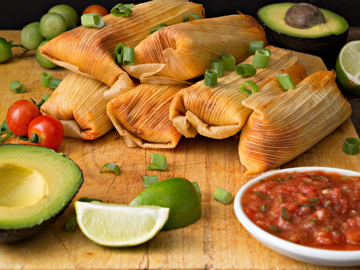 Food + Drink food dish board produce wooden cuisine fish meal vegetable sliced wood several