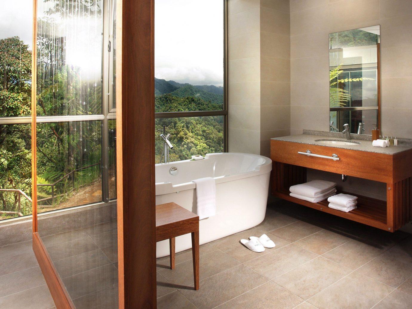 Food + Drink floor indoor room property house home hardwood interior design bathroom estate real estate Design wood flooring furniture