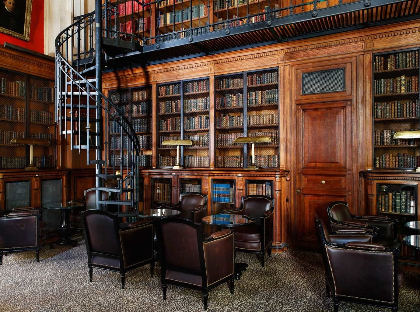 Bar Boutique Hotels City Drink Elegant France Historic Hotels Lounge Paris Romantic chair library room building scene shelf public library bookselling interior design home furniture