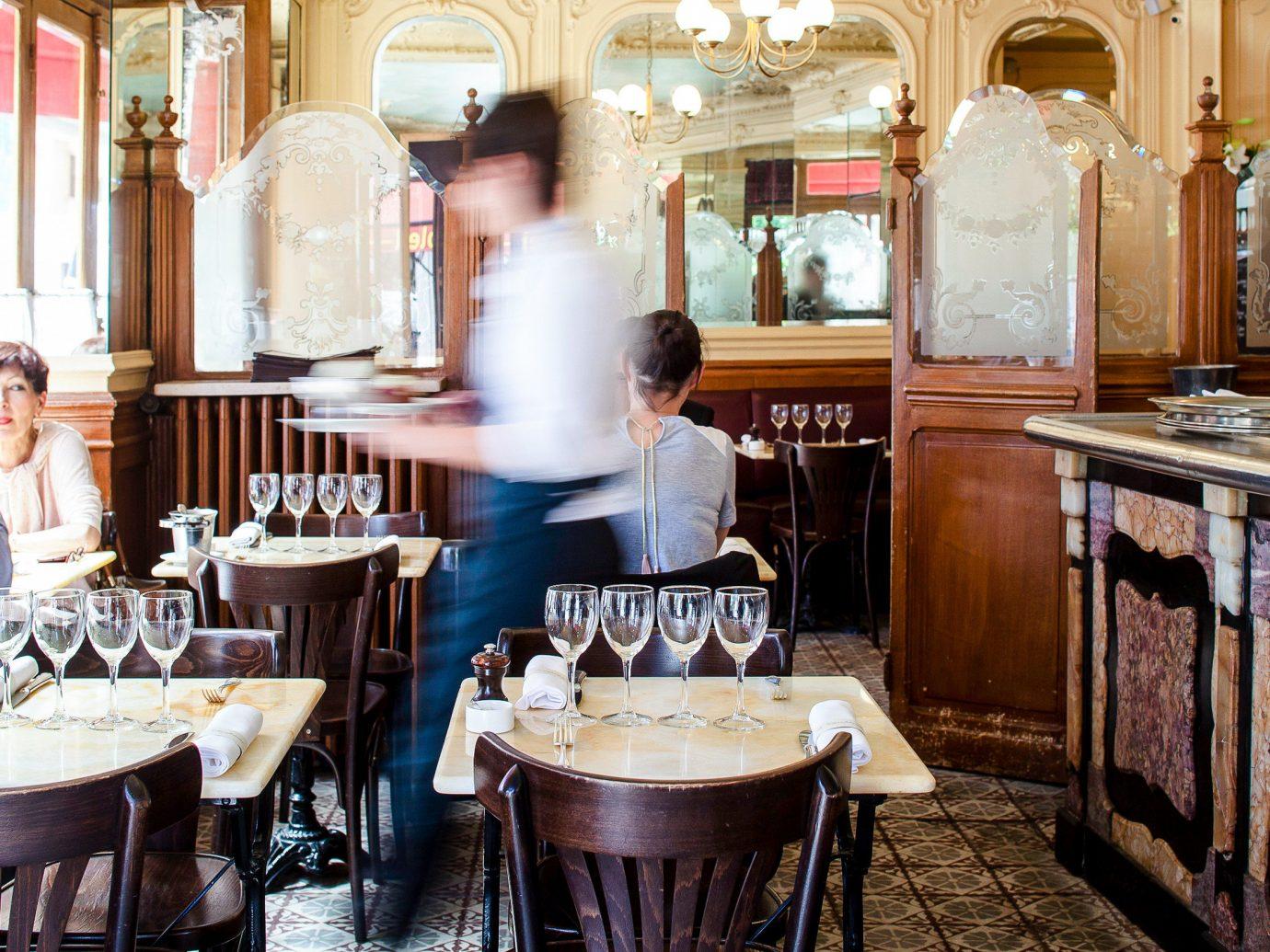 Food + Drink France Paris indoor furniture table restaurant interior design cooking meal