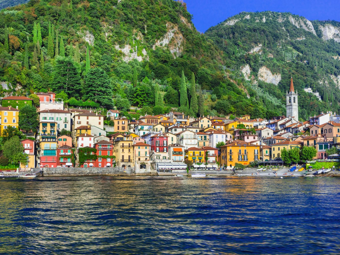 Trip Ideas tree outdoor water mountain mountain village Coast waterway Harbor Town Lake scene sky City Village bay River mount scenery Sea tourism reflection promontory fjord hill station water transportation real estate landscape mountain range lake district long colorful traveling line