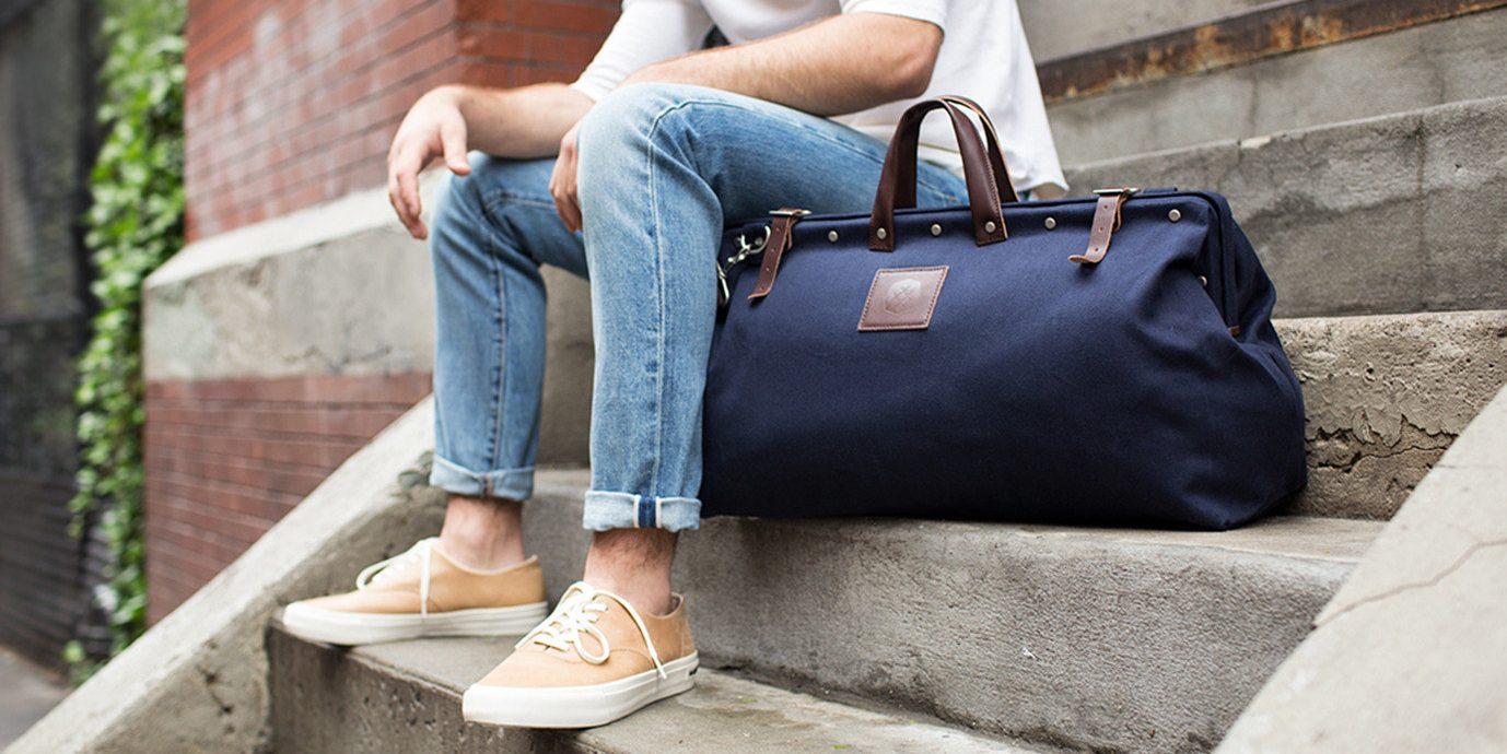 Men's Weekend Duffel Bags- Dagne Dover Large Landon Neoprene Duffel