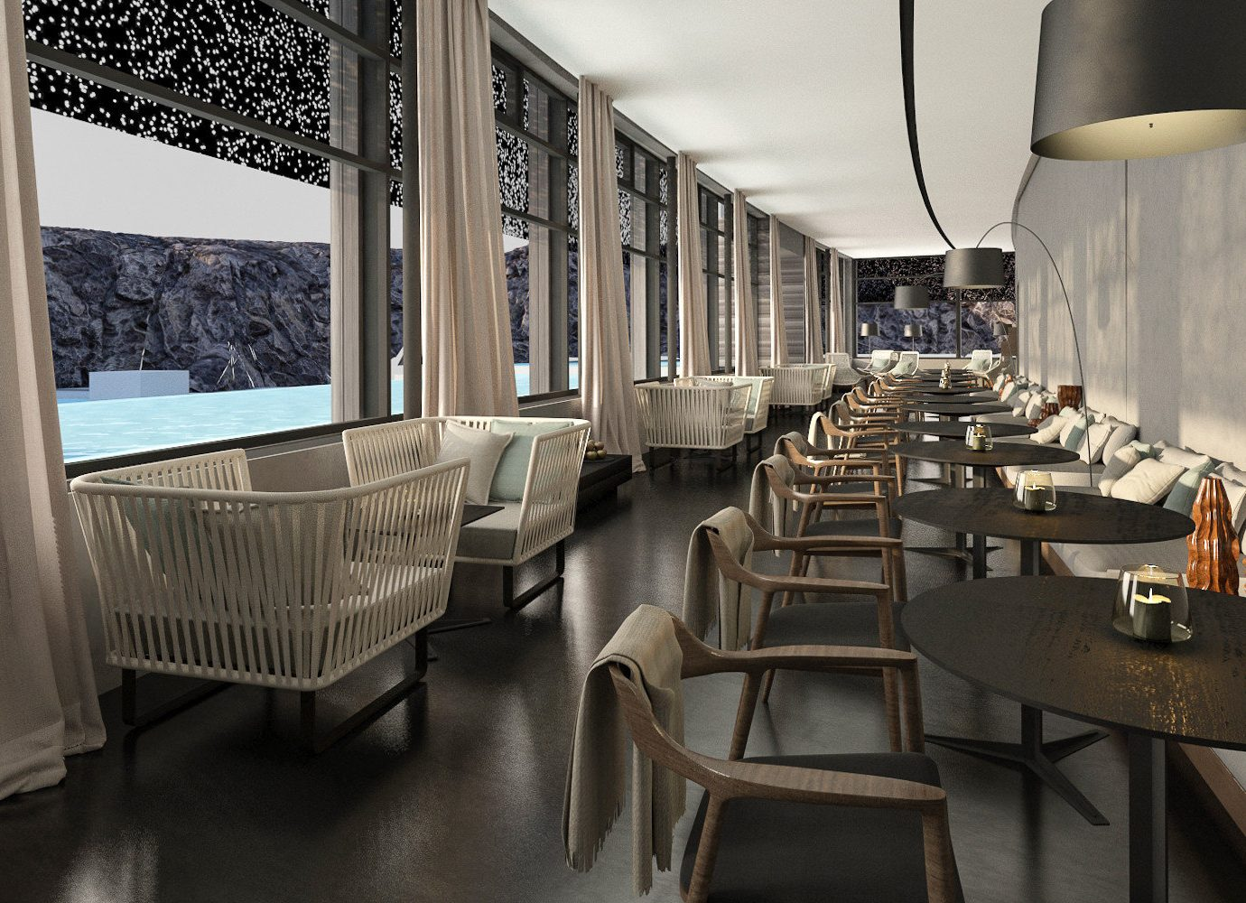 Hotels Iceland interior design restaurant furniture