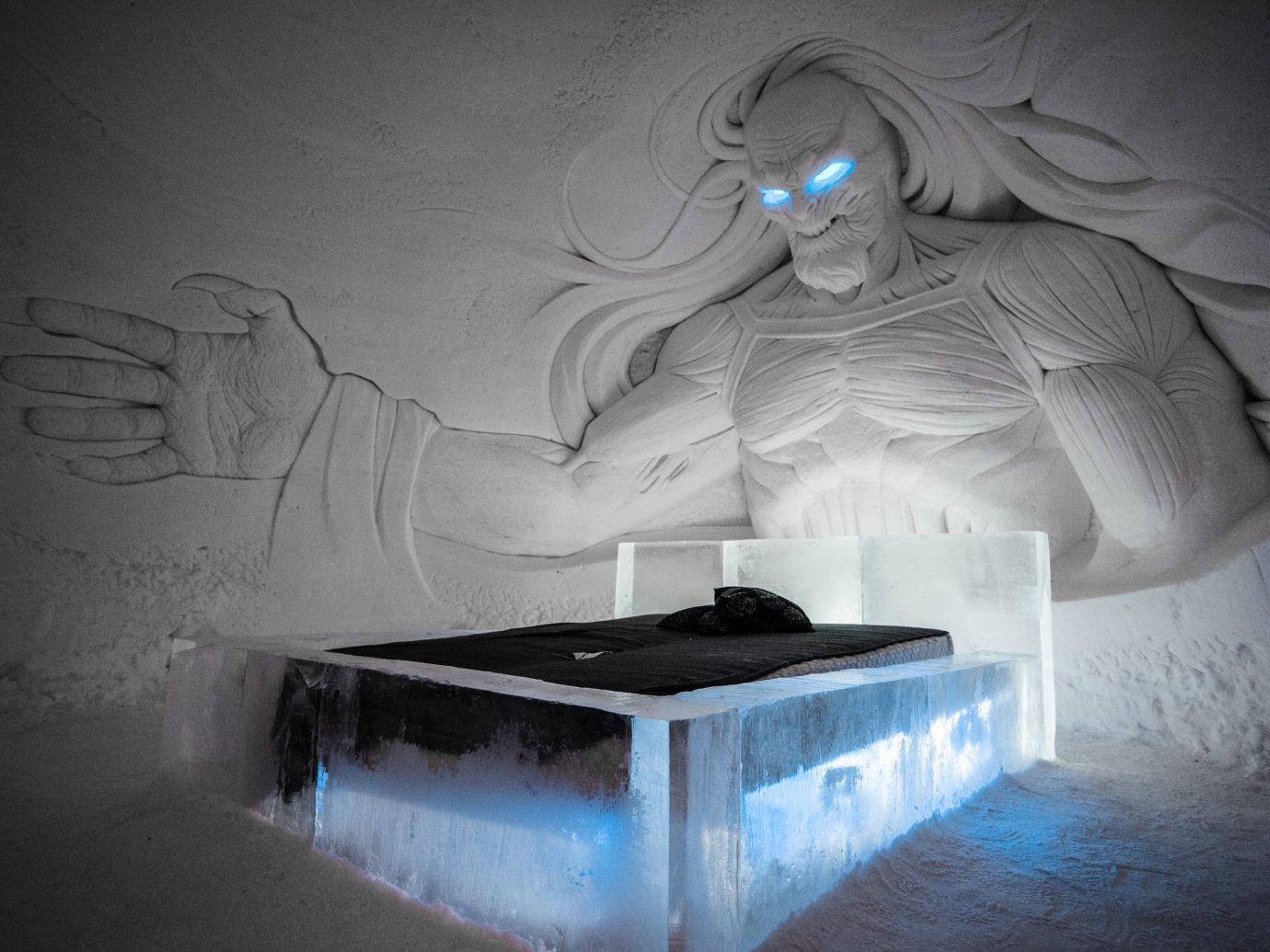 News Offbeat Trip Ideas light ice darkness art ice hotel freezing visual arts artwork computer wallpaper