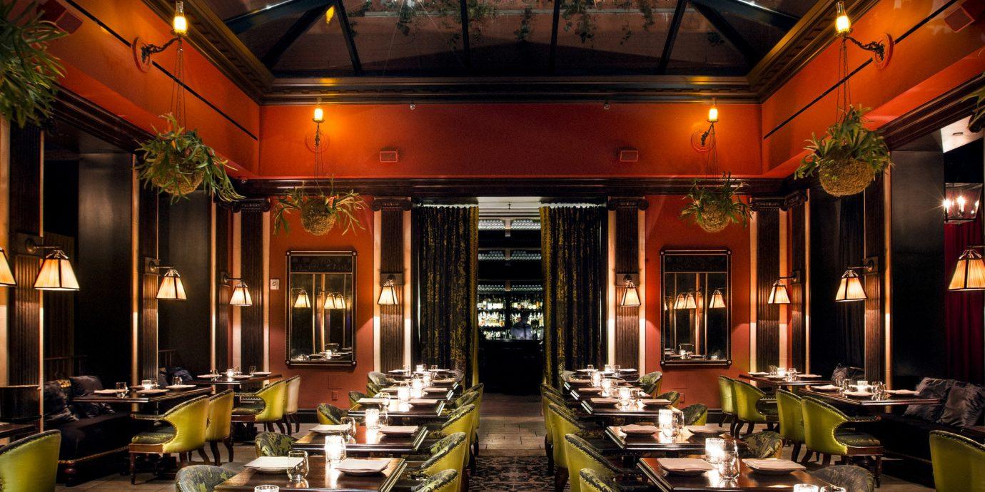 Arts + Culture Food + Drink Romance indoor building night meal restaurant interior design Lobby