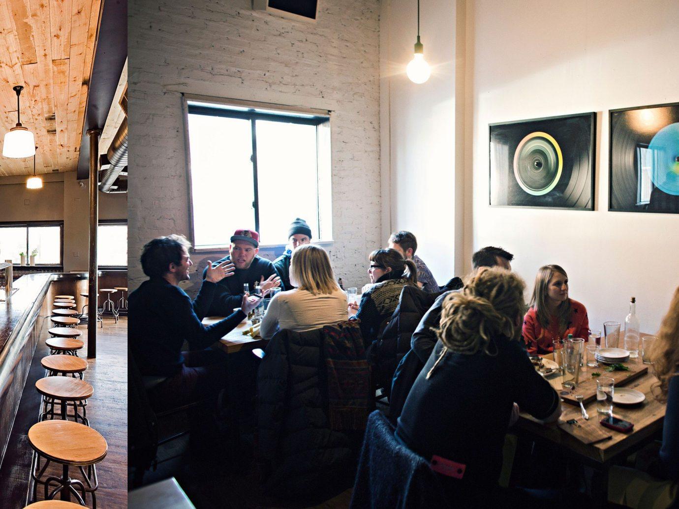 Food + Drink indoor person ceiling people Bar