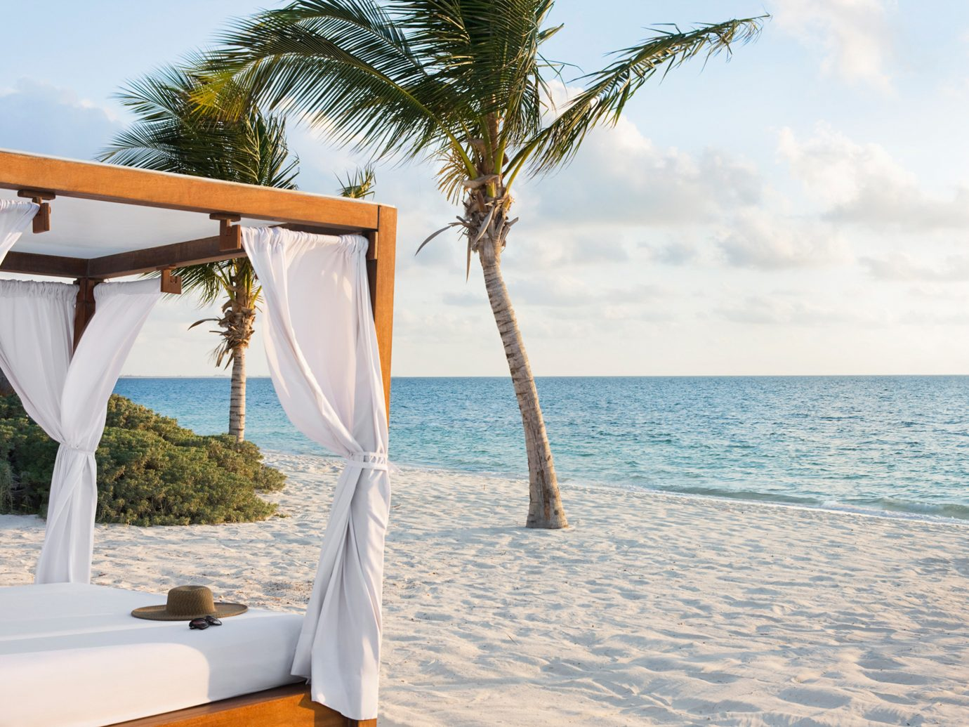 Beach Beachfront Hotels Living Lounge Luxury Ocean Romance Trip Ideas tree sky outdoor water leisure vacation caribbean swimming pool arecales Sea Resort palm sandy shore day