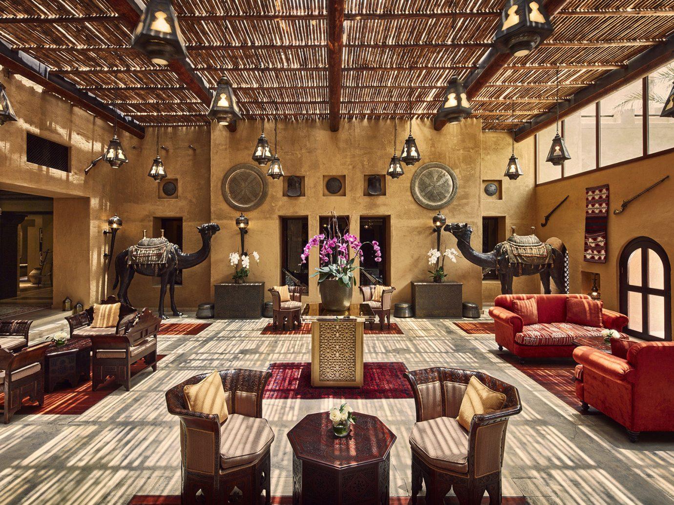 Dubai Hotels Luxury Travel Middle East indoor room interior design living room Lobby restaurant function hall furniture several