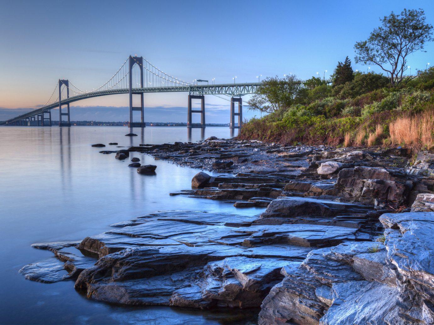 Travel Tips Trip Ideas outdoor sky water rock shore River Sea Coast Ocean bridge reflection wave bay