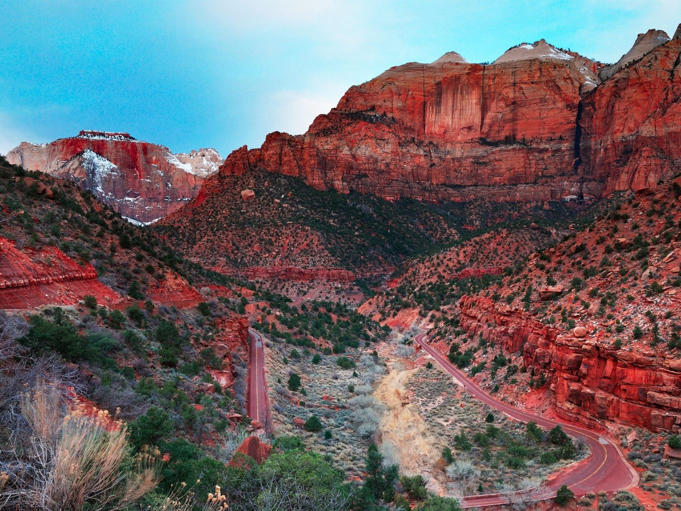National Parks Outdoors + Adventure Trip Ideas valley canyon mountain Nature geographical feature landform rock wilderness geological phenomenon red landscape plateau geology autumn mountain range cliff national park painting