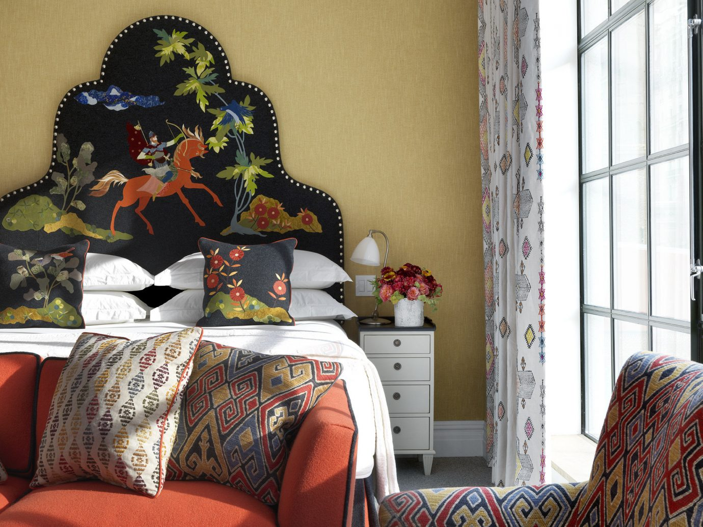 The Whitby, Hotels NYC indoor wall room clothing Living art interior design furniture textile colorful decorated colored