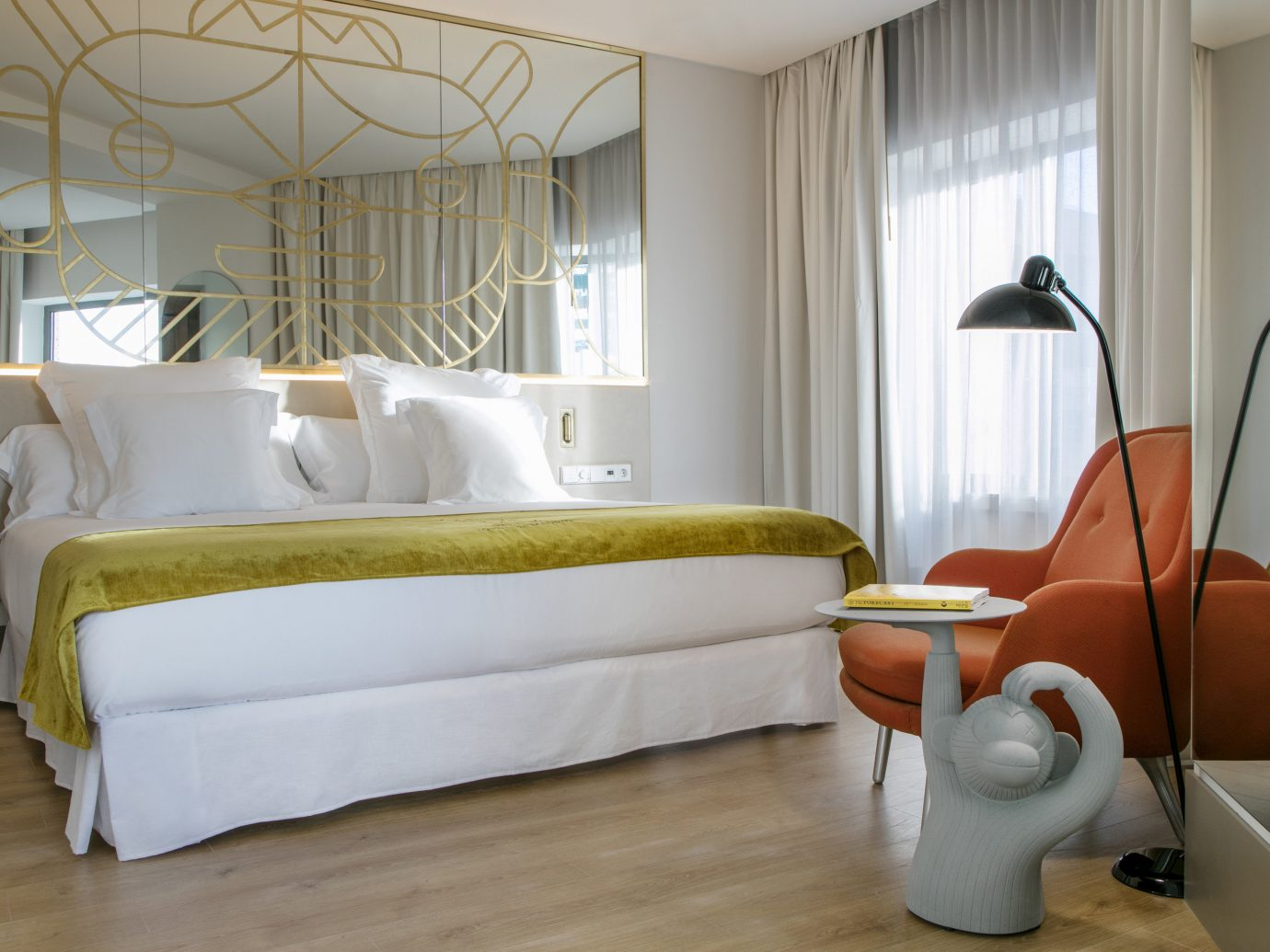 Hotels Madrid Spain indoor floor wall room interior design window Suite Architecture bed frame Bedroom ceiling home furniture window treatment real estate bed bed sheet window covering flooring interior designer hotel living room curtain