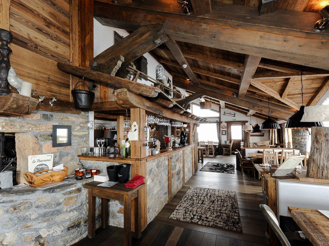Interior of Le Panoramic, Chamonix, France