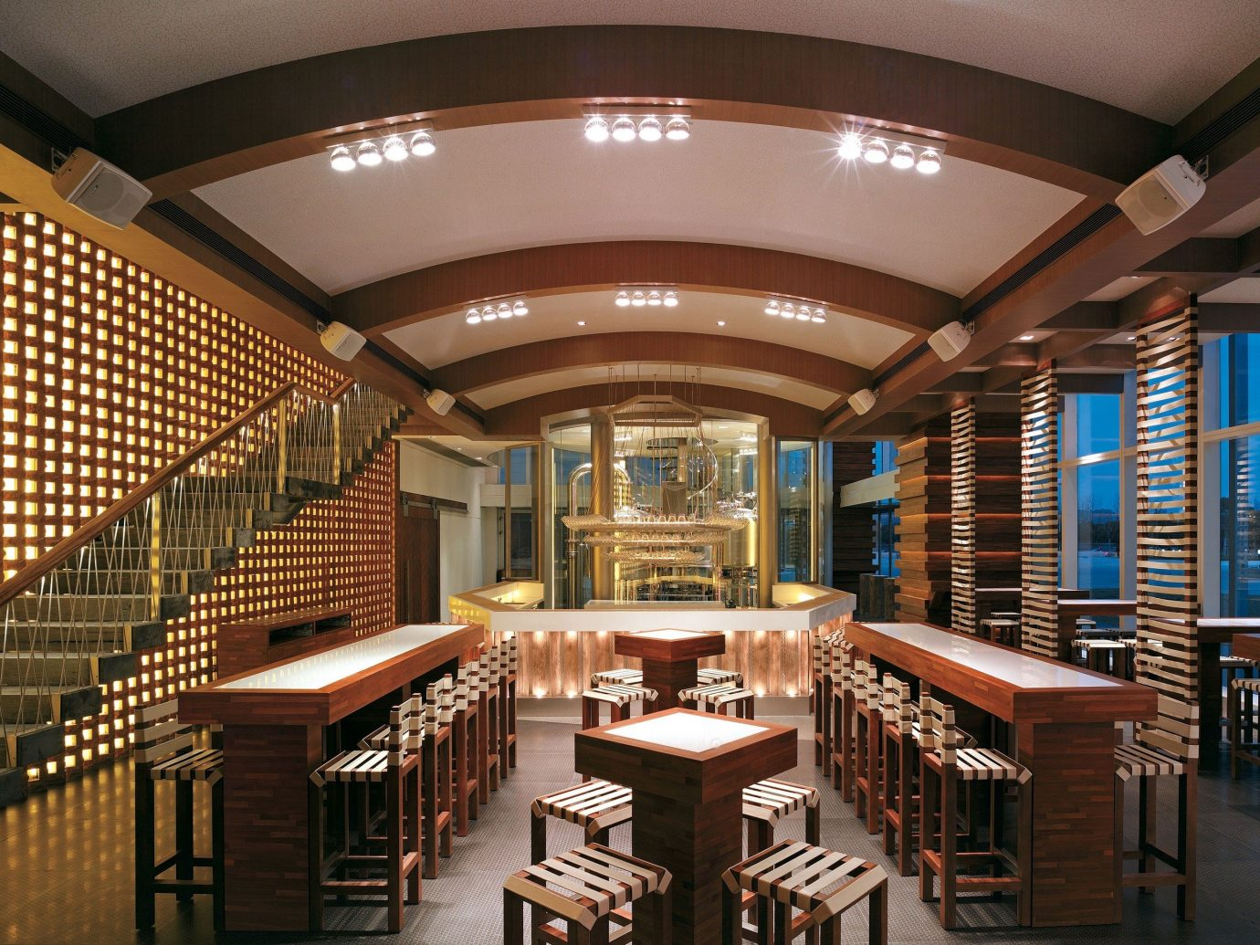 Food + Drink indoor ceiling floor library building auditorium Lobby interior design convention center conference hall estate furniture