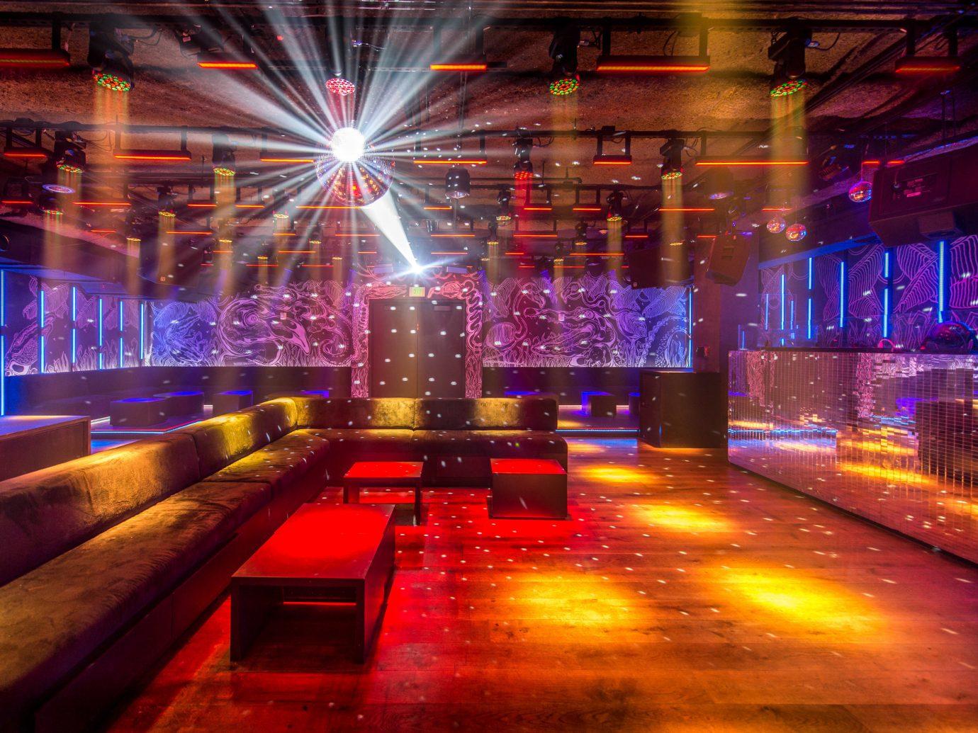 Food + Drink Girls Getaways Hotels Jetsetter Guides shopping Style + Design Weekend Getaways floor indoor nightclub stage disco music venue Bar