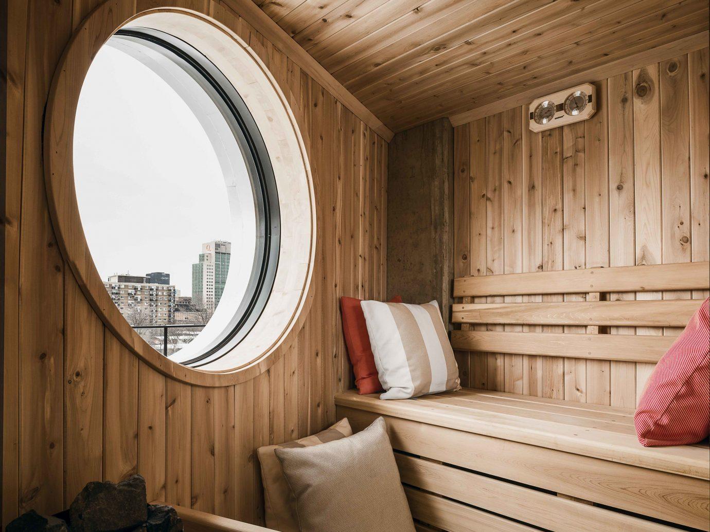 Canada Hotels Montreal Trip Ideas indoor wall wood interior design window home ceiling daylighting wood stain floor Bedroom