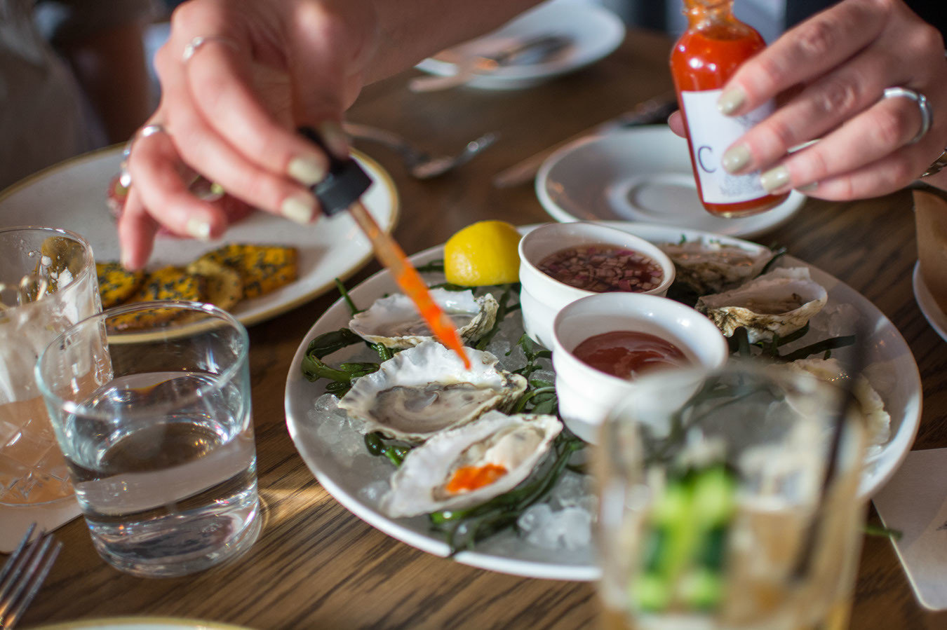 Oysters at New Orleans Louisiana