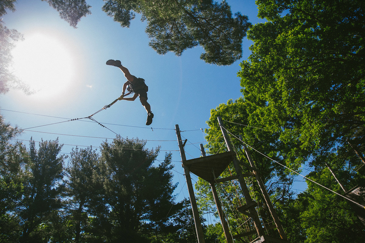 Offbeat tree outdoor sky woody plant Forest Adventure extreme sport sports sunlight plant wooded